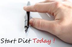 Comience el concepto de la dieta hoy Fotografía de archivo libre de regalías