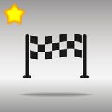 Comience el concepto negro del símbolo del logotipo del botón del icono de alta calidad Foto de archivo