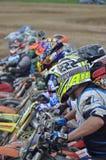 Comience en la raza del motocrós Imagen de archivo