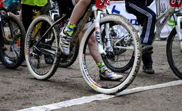 Comience en los recorridos de la bici Foto de archivo libre de regalías