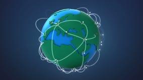 Comience Europa, creciendo la red global con la comunicación stock de ilustración