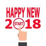 Comience la idea 2018 del Año Nuevo Imagenes de archivo