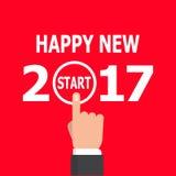 Comience la idea 2017 del Año Nuevo ilustración del vector
