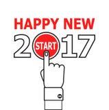 Comience la idea 2017 del Año Nuevo stock de ilustración