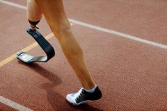 Comience la línea mujeres del miembro de la pierna artificial imagen de archivo libre de regalías