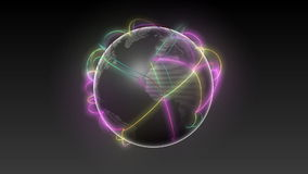 Comience los E.E.U.U., creciendo el fondo tierra-negro 2 del negro de la red global libre illustration