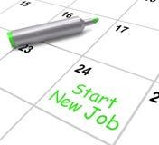 Comience a nuevo Job Calendar Means Day One adentro Imagen de archivo