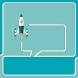 Comience para arriba las nuevas burbujas del discurso del proyecto y charle el símbolo Foto de archivo libre de regalías