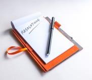 Comience a pensar en resoluciones del Año Nuevo Foto de archivo libre de regalías