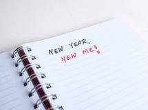 Comience a pensar en resoluciones del Año Nuevo Imagenes de archivo