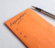 Comience a pensar en resoluciones del Año Nuevo Fotografía de archivo libre de regalías