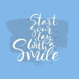 Comience su día con un texto de la sonrisa Imagen de archivo