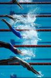 Comienzo 01 de la zambullida de la nadada Foto de archivo libre de regalías