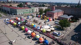 comienzo Ciudad de De Pologne Czstochowa del viaje de la raza de ciclo Fotografía de archivo