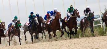 Comienzo de la carrera de caballos Foto de archivo libre de regalías