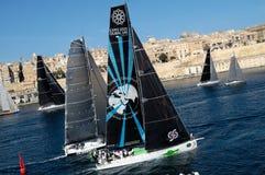 Comienzo de la raza media del mar de Malta Rolex imagen de archivo libre de regalías