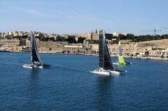 Comienzo de la raza media del mar de Malta Rolex fotografía de archivo