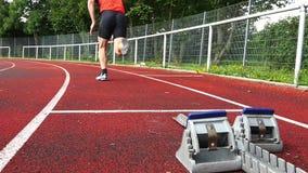 Comienzo de Sprint en atletismo