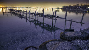 Comienzo del día, arenas de oro, Bulgaria, puesta del sol, mar fotografía de archivo