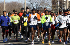Comienzo del maratón - precursores. Foto de archivo