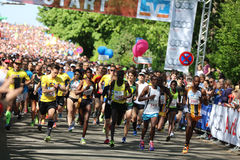 Comienzo del medio maratón Fotografía de archivo libre de regalías