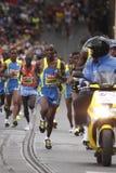 Comienzo del medio maratón de Praga Foto de archivo libre de regalías