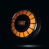 Comienzo o icono brillante del botón de encendido Foto de archivo