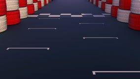 Comienzo y meta del circuito de carreras libre illustration