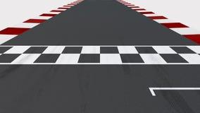 Comienzo y meta del circuito de carreras con Alpha Channel libre illustration