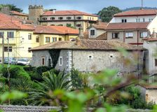 Typical midieval houses in Comillas, Cantabria, Camino del Norte, the Northern Way of Saint James in Spain. Comillas, Cantabria, Coastal Camino de Santiago route royalty free stock photos