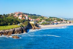 Free Comillas City Beach Aerial View Royalty Free Stock Photo - 127737035