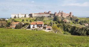 Comillas foundation in mountains Stock Photo