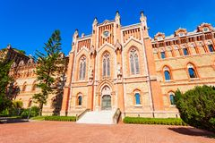 Comillas Pontifical University, Spain. University Center or Comillas Pontifical University or Universidad Pontificia is a private university in Comillas, Spain royalty free stock images