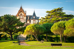 Comillas, Spain. Park View of Comillas, Spain Stock Image