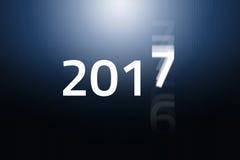 2017 comincia - la pendenza blu Immagini Stock Libere da Diritti