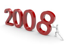 Coming 2008. New year eve - 3d illustration Stock Image