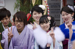 Coming of age day celebration in Japan Stock Images