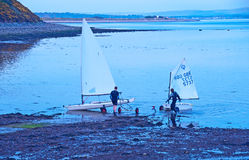 Coming ashore at Fortrose Stock Photos