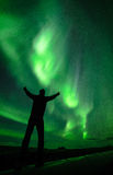 The coming of aurora royalty free stock photography