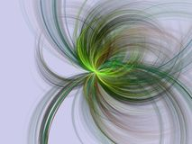 Coming through. Colorful fractal swirls on light background Stock Photos