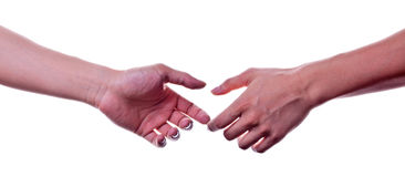 A coming handshake Royalty Free Stock Photo