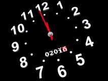 Coming new year. On a hybrid of watch and an automobile speedmeter Stock Illustration