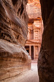 Coming out from the Siq. Stock Images