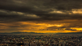 The coming of the rains, Osaka, Japan Stock Image