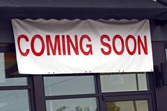 Coming Soon!. A new store readies for business Stock Images