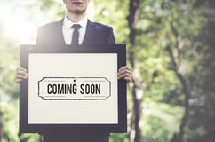 Coming Soon Advertise Alert Announcement Concept Royalty Free Stock Photo