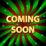 Coming soon background Stock Photo