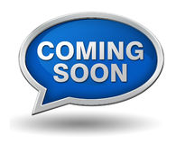 Coming soon badge concept 3d illustration Royalty Free Stock Image
