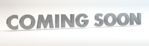Coming Soon Banner Stock Image