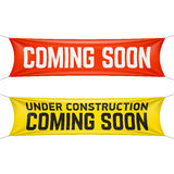 Coming soon banner Stock Photos